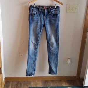 Rock Revival Muna Mid-Rise Skinny Jeans 27x31